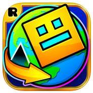 logo geometry dash world