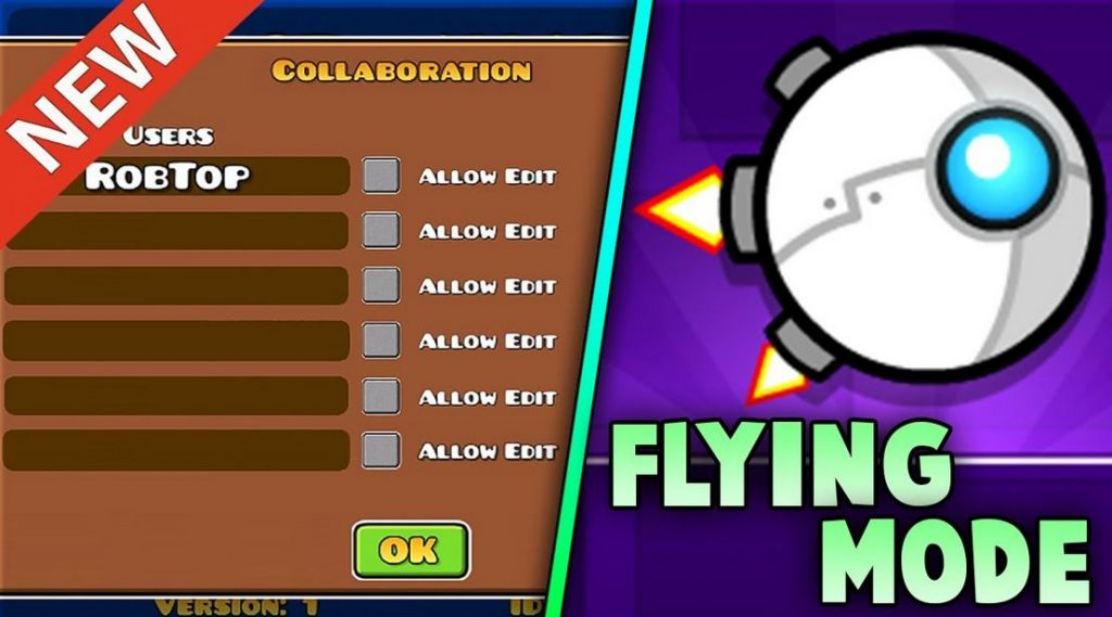 modo volador geometry dash
